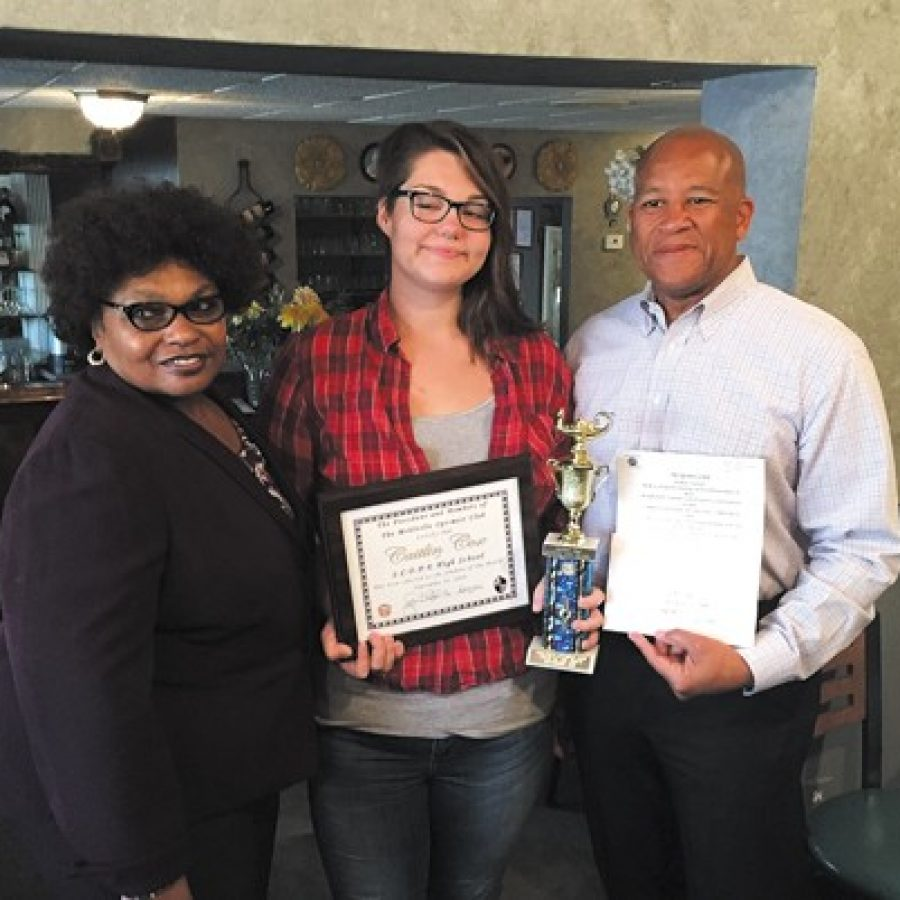 Optimist Club honors Student of the Month