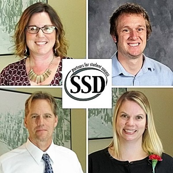 Lindbergh educators honored by the Special School District, clockwise from upper left, are: Tara Sparks, Daniel Hehner, Shannon Morley and Scott Mulvaney.