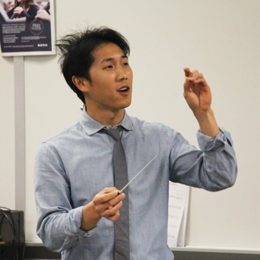 Lindbergh High School third-year orchestra director Alex Chang, above, 'is is an amazing teacher,' according to LHS Principal Eric Cochran. Chang has been named Outstanding Young Educator of the Year by the Missouri Music Educators Association.