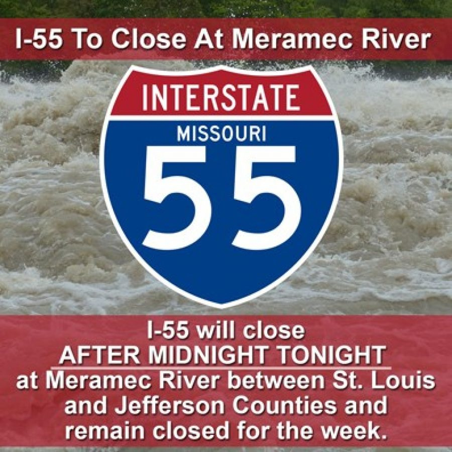 Interstate 55 to close tonight between St. Louis, Jefferson counties