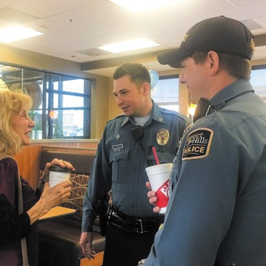 Sunset Hills 'Coffee With a Cop' a rousing success