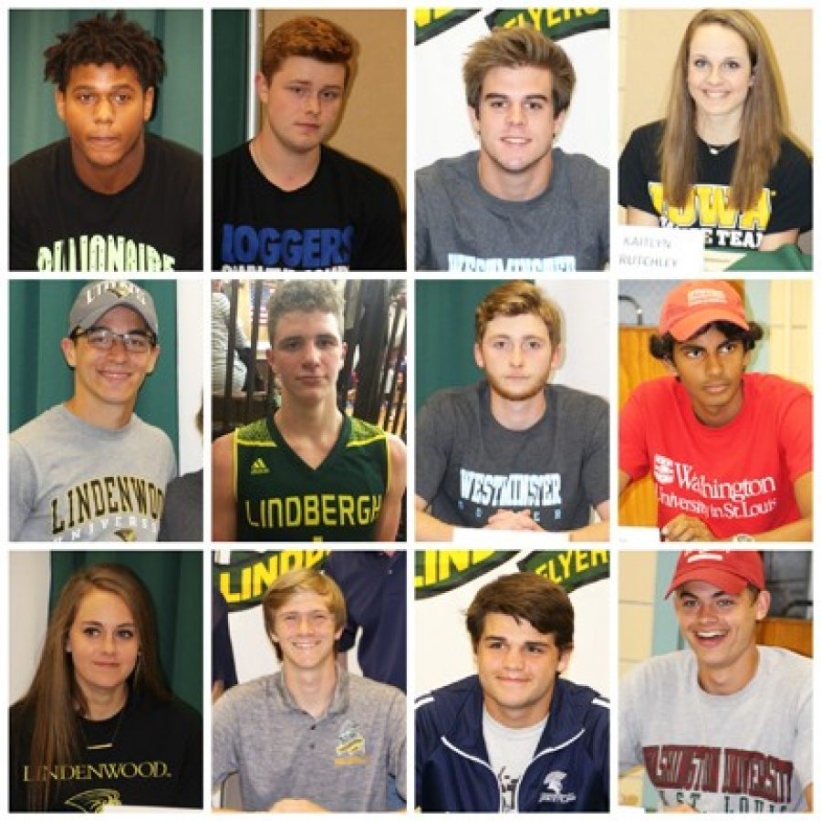 Twelve Lindbergh student-athletes commit to college play