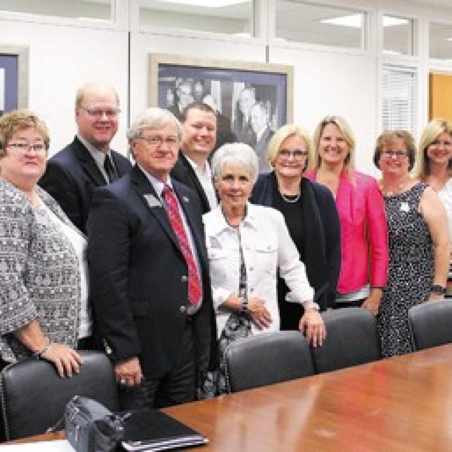 School board members, administrators meet with McCaskill