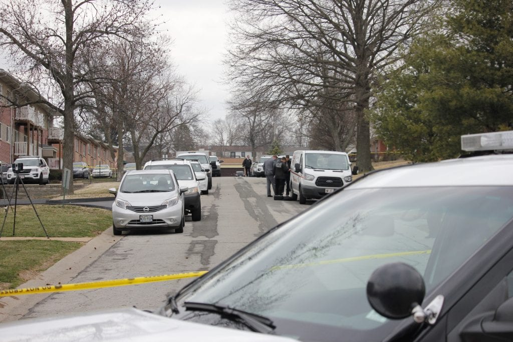The+St.+Louis+County+Police+Department+investigates+at+apartments+along+Marble+Arch+Lane+in+Affton+after+a+woman+was+fatally+stabbed+Wednesday.+Photo+by+Erin+Achenbach.