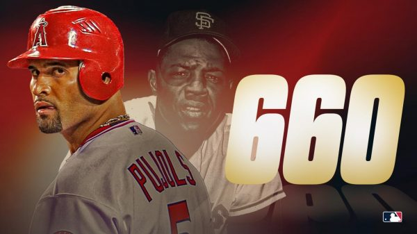 Major League Baseball posted this graphic to social media when Albert Pujols last year tied Willie Mays on the all-time home run list with 660.