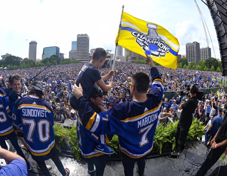Oakville+native+Pat+Maroon+%28No.+7%2C+right%29+waves+at+the+crowd+of+hundreds+of+thousands+under+the+Arch+and+down+Market+Street+at+the+Blues%E2%80%99+Stanley+Cup+parade+Saturday.+Maroon%E2%80%99s+son+Anthony%2C+10%2C+sits+on+the+shoulders+of+player+Jaden+Schwartz%2C+and+Oskar+Sundqvist+%28No.+70%29+is+also+pictured.+The+night+the+Blues+won+the+Cup%2C+Anthony+said+his+father+would+bring+it+to+Telegraph+Road+in+Oakville.
