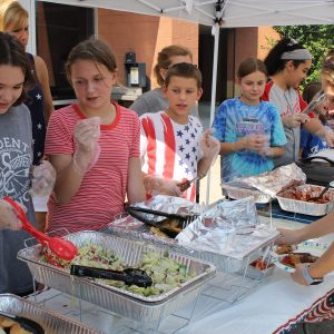Bernard Middle School students honored South County Precinct officers, firefighters and military members with their 'Patriot Day' first responders' barbecue, an annual commemoration of the 9/11 attacks on Sept. 11.