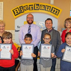 Bierbaum Elementary Students named 'Terrific Kids'