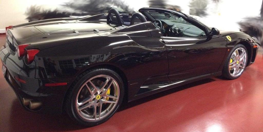 Pictured above: A picture of the stolen 2007 black Ferrari Spider 430 from the Sunset Hills Police Department's Twitter. The Ferrari was recovered Thursday but no further information was released due to investigative reasons.