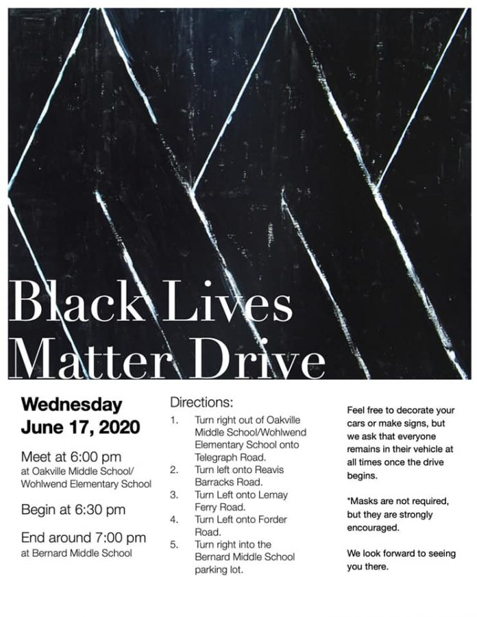 Socially distanced Black Lives Matter drive organized by Oakville High student