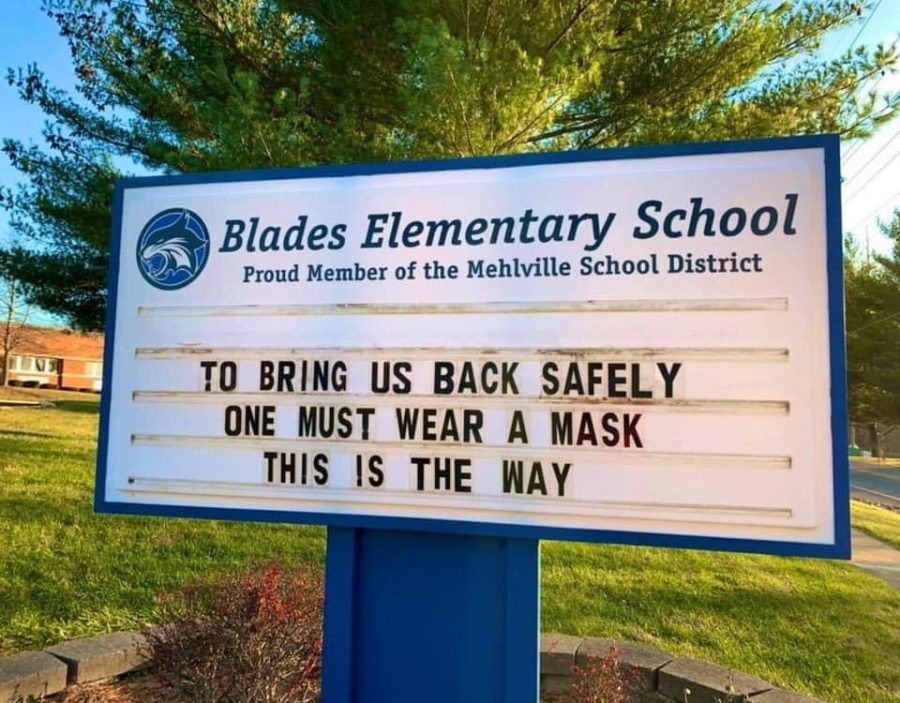 Blades+Elementary+sign+COVID-19+mask