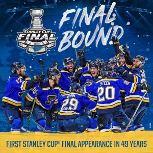 Stanley Cup final bound. Courtesy of the St. Louis Blues.