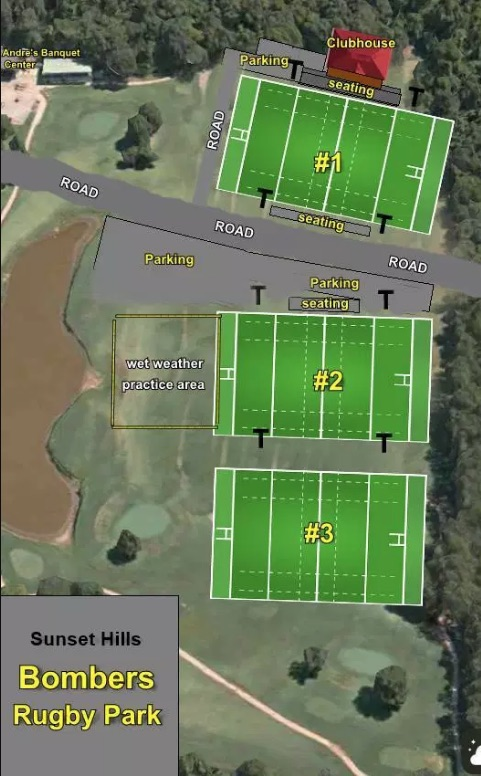 A rendering of the proposed layout and location of the St. Louis Bomber's rugby park.