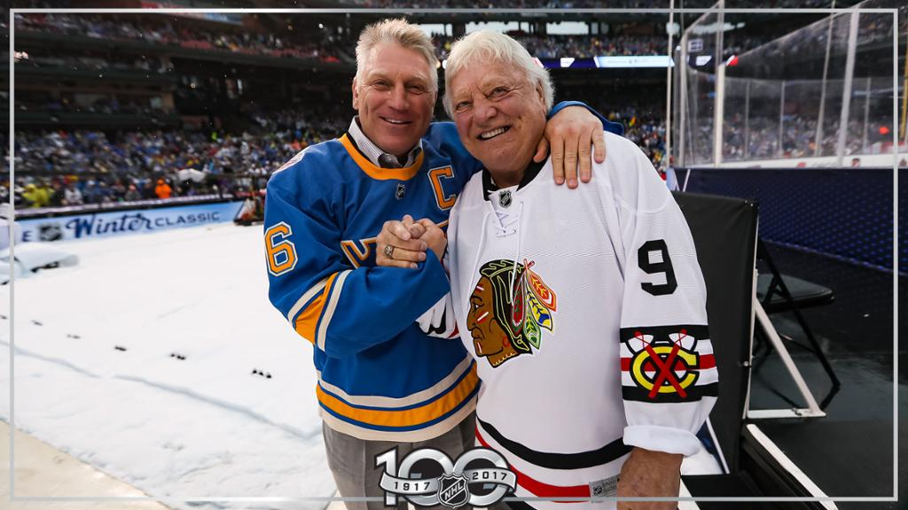 Brett+Hull%2C+left%2C+and+his+father+Bobby+Hull.+Photo+courtesy+of+NHL.com.