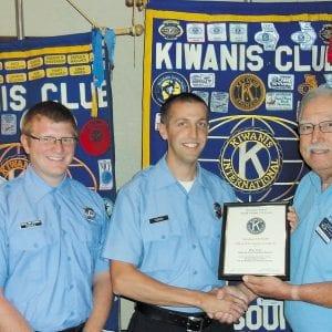 Kiwanis Club honors MFPD firefighter/paramedic