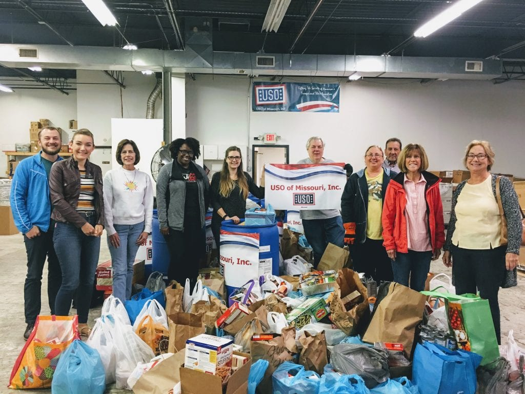 The+Call+Newspapers+team+with+the+thousands+of+donations+from+south+county+for+the+USO+for+Thanksgiving+2017.