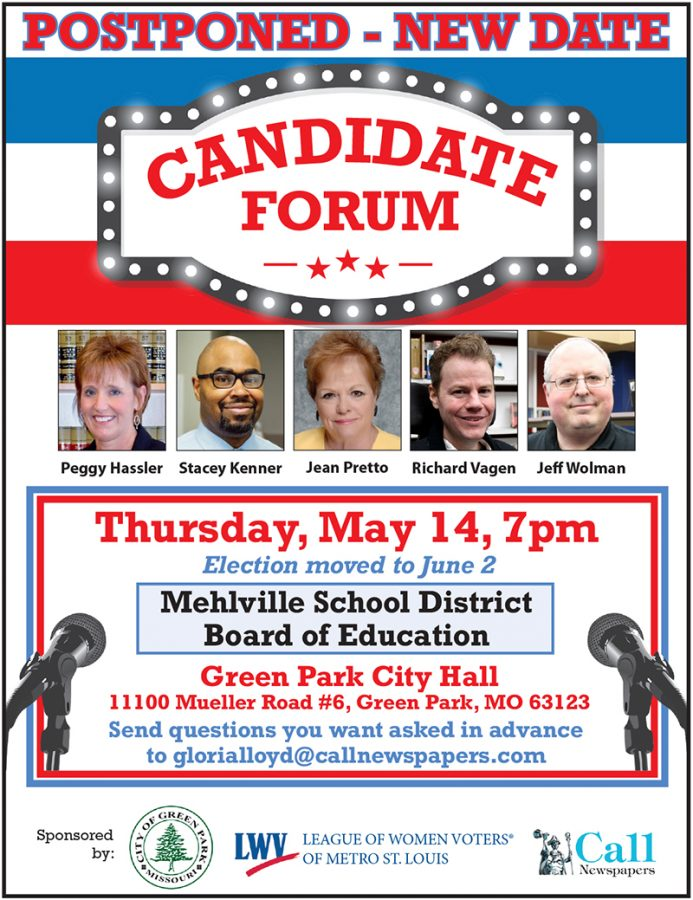 Mehlville Board of Education candidate forum postponed until May