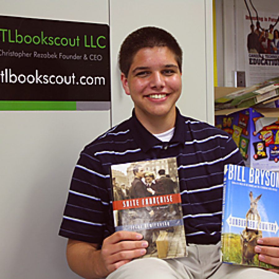 Lindbergh High School sophomore Chris Rezabek has a successful business buying used books and reselling them on Amazon.com. He has sold 668 books since November.