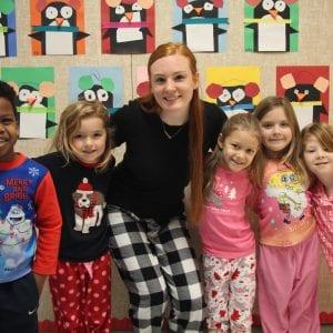 Crestwood Elementary's first week of full day kindergarten, in pajamas