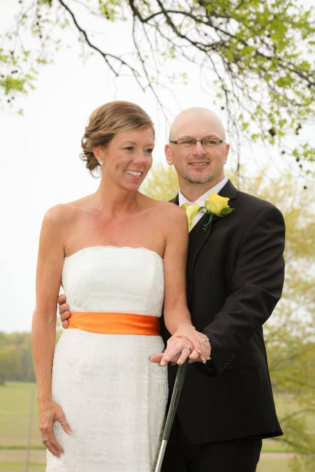 DeAnna May Lloyd and Roger Lloyd on their wedding day.