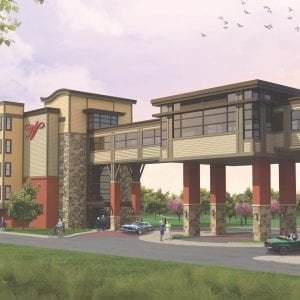 Building rendering for the Devonshire Building, with 76 new senior living apartments, part of the Friendship Village Sunset Hills expansion. Photo courtesy of Friendship Village.