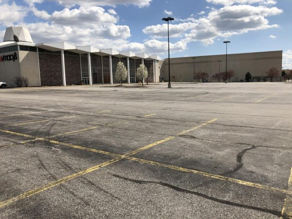 Some businesses were forced to close by St. Louis County's March 21 stay-at-home order, but others like the Macy's at South County Center, seen above during the stay-at-home order, voluntarily closed before that.