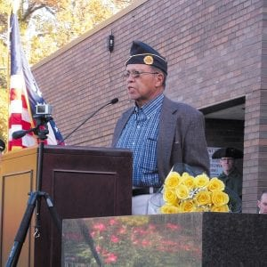 Founder of cemetery organization honored at Crestwood Veterans Day ceremony