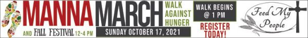 Feed My People hosting its  annual Manna March against hunger