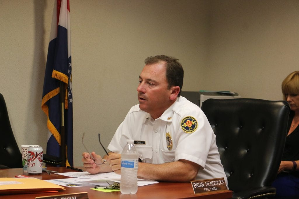 Fire+Chief+Brian+Hendricks+speaks+during+a+MFPD+Board+of+Directors+meeting.