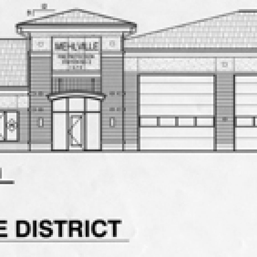 Pictured above is the most recent preliminary drawing of the Mehlville Fire Protection District's new No. 2 firehouse that will be constructed at Telegraph Road and Whitshire Drive.