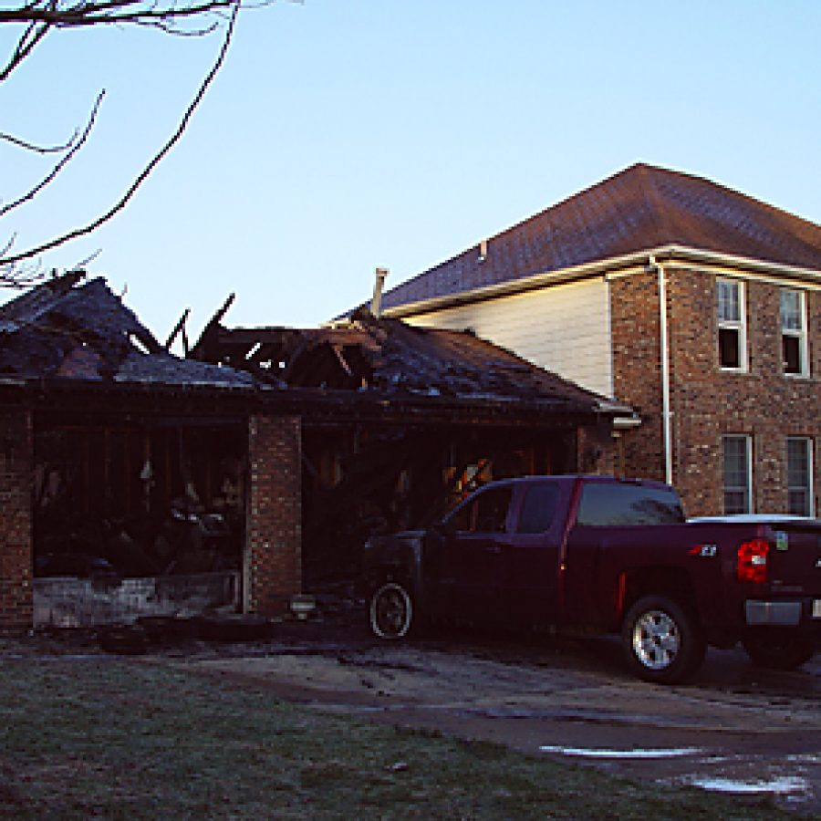 An early morning fire on New Year's Day resulted in major damage to the garage of this residence on Graystone Ridge Court in Oakville.