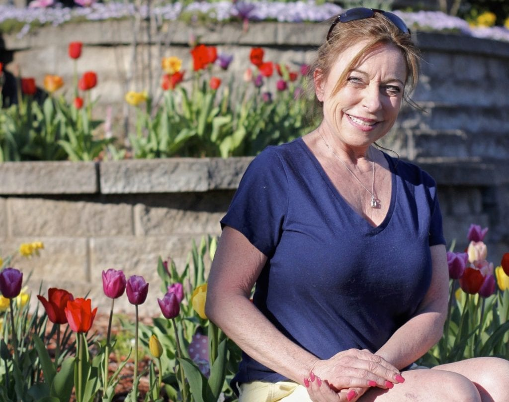 Spring has sprung in one Sunset Hills resident's garden.  Mary Halloran, who lives off West Watson Road in Sunset Hills, shows off her colorful garden full of tulips that bloomed last Tuesday.  Halloran planted the bulbs at the beginning of fall.