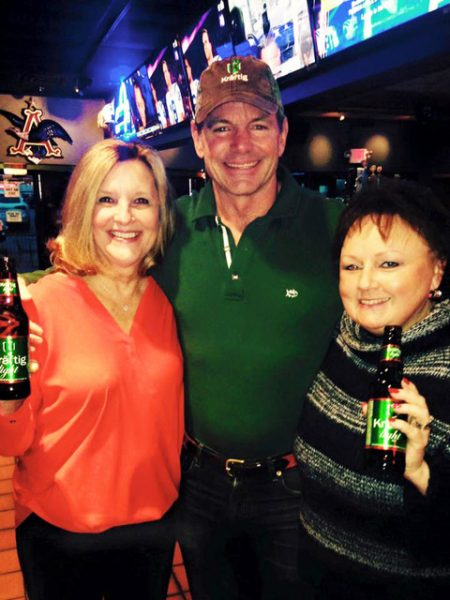 Billy Busch, center, with incoming Sunset Hills Mayor Pat Fribis and Ward 1 Alderman Dee Baebler at a Super Bowl party, in a picture posted to Fribis' Facebook page for her mayoral candidacy in 2016.