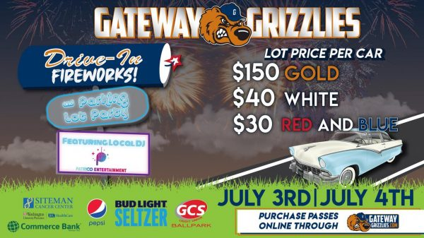 Gateway Grizzlies will hold drive-in fireworks this weekend for Fourth of July