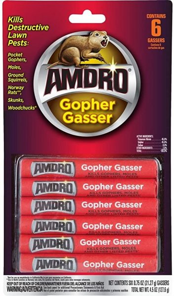 Pesticides that use smoke bombs, like Gopher Gasser, can be a fire hazard to use near a home.