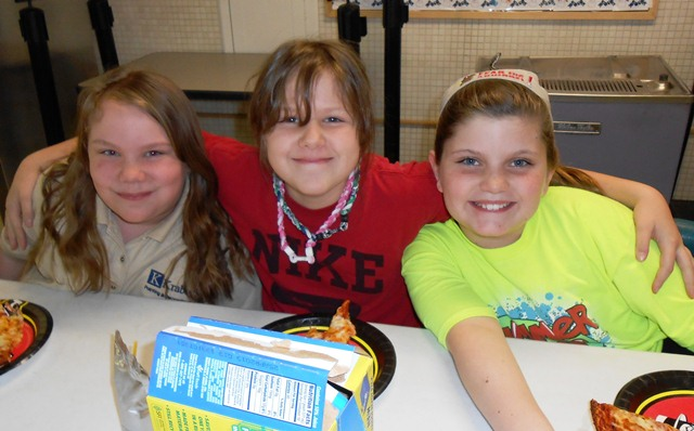 Ashleigh Stevens, Megan Davidson and Alexis Watts all won character awards from Gotsch Intermediate School in January 2013.