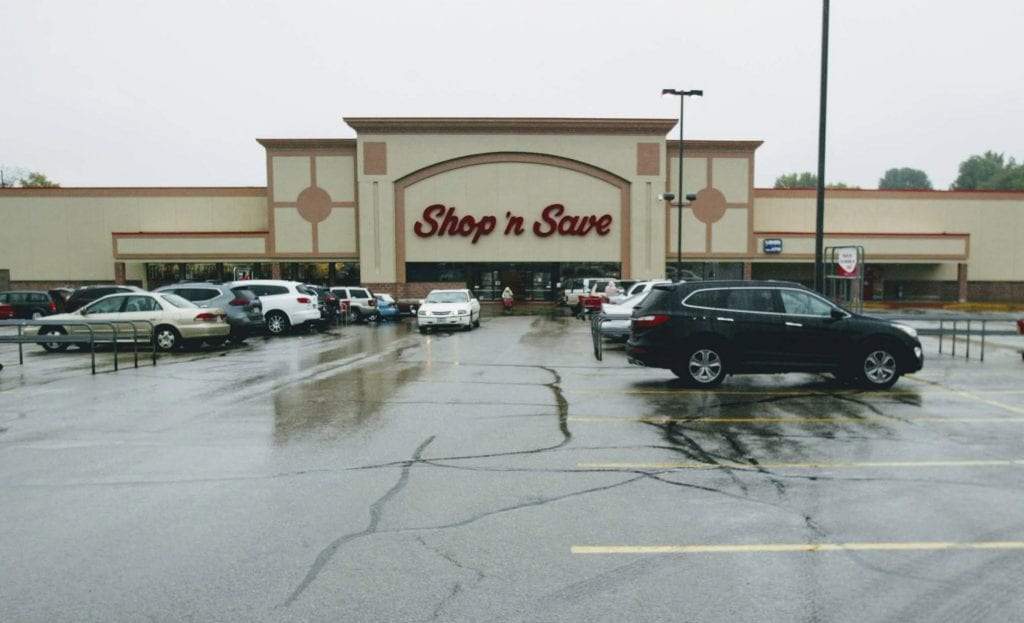 The Green Park Shop 'n Save, one of the Shop 'n Saves in the area to be converted to a Schnuck's. Photo by Bill Milligan.
