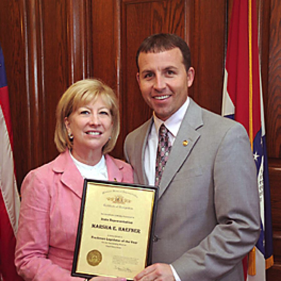 Rep. Marsha Haefner and House Speaker Steve Tilley