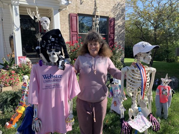 Every Halloween, Green Park resident Julie Palmer's yard is decorated with more than 40 skeletons.