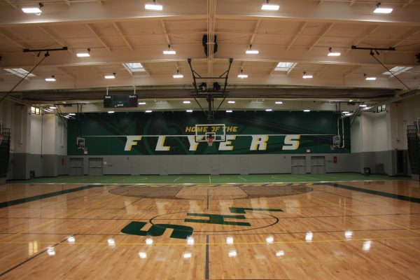 The newly renovated Gym 3 at Lindbergh High School was unveiled last week, ready except for finishing touches.
