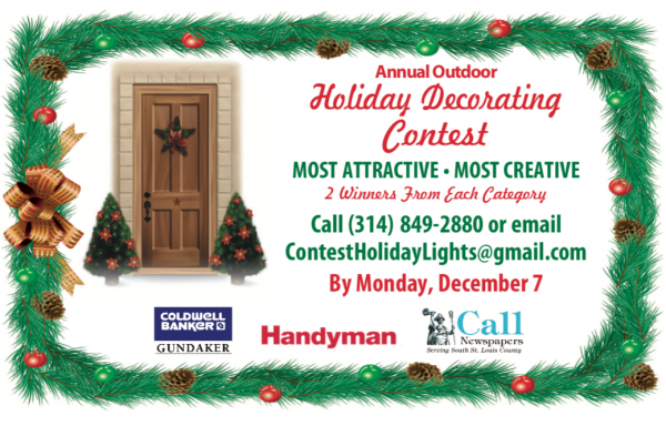 Show off your lights! Enter the annual Outdoor Holiday Decorating Contest