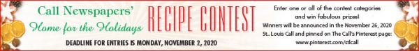 Enter The Call's 26th annual Home for the Holidays Recipe Contest