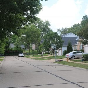 Sunset Hills to revisit issue of basketball hoops on a street on Meadowglen Lane