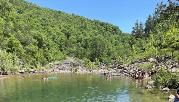 A photo of the rescue as it happened at Johnson's Shut-Ins June 14.