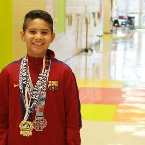 Lindbergh fifth-grader trains with Barcelona Soccer Club