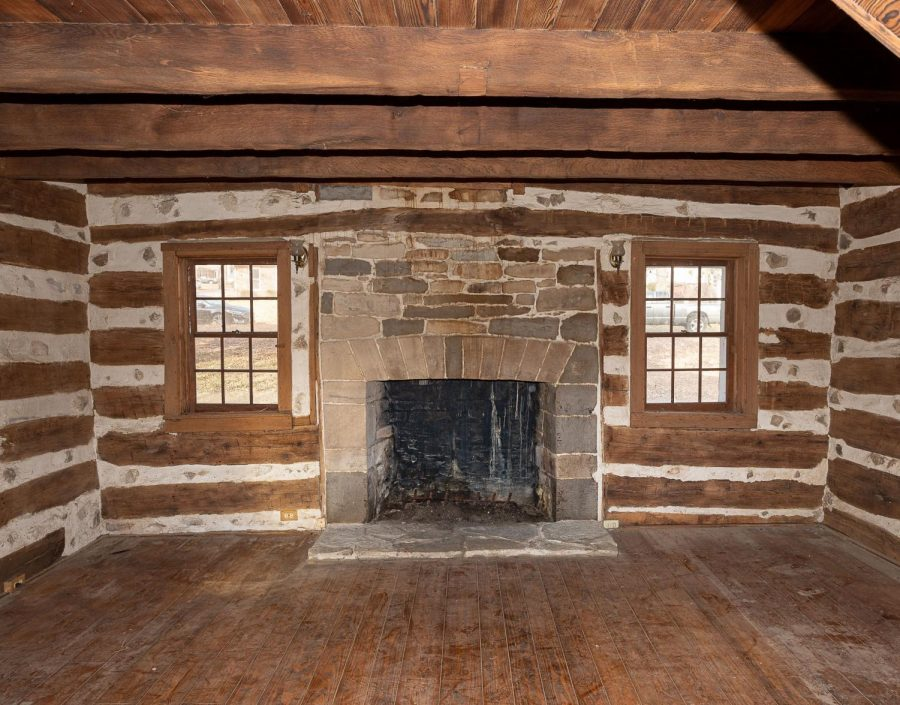 Inside the Joseph Sappington House.