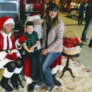 Pictured above with the jolly fat man are Liam Juelfs, 4, and his mother Sarah. Photo by Bill Milligan.