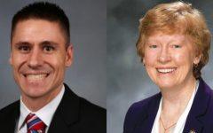 State Sen. Andrew Koenig, left, and Rep. Deb Lavender, right.