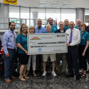 Sunset Ford gives Lindbergh hefty donation