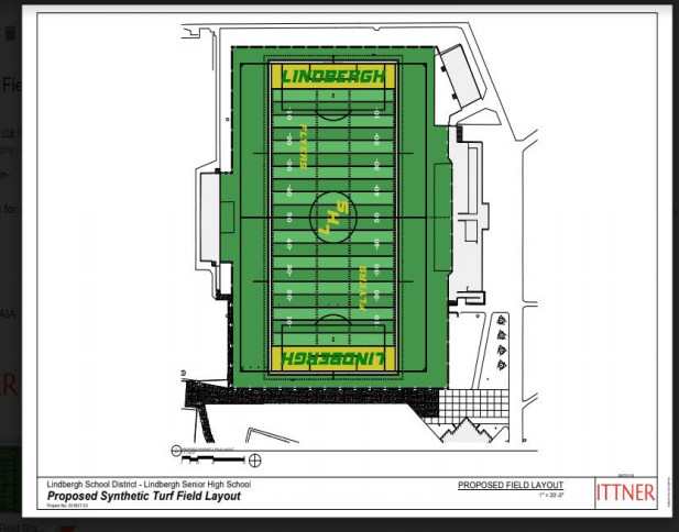 Pictured+above%3A+The+proposed+synthetic+turf+layout+for+the+Lindbergh+High+School+stadium.+